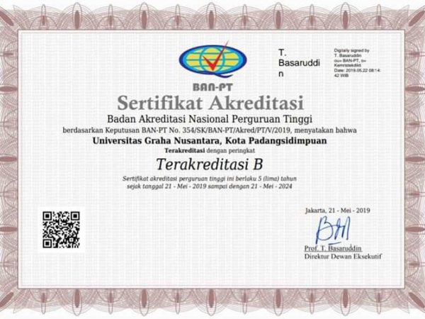 Akreditasi Institusi B