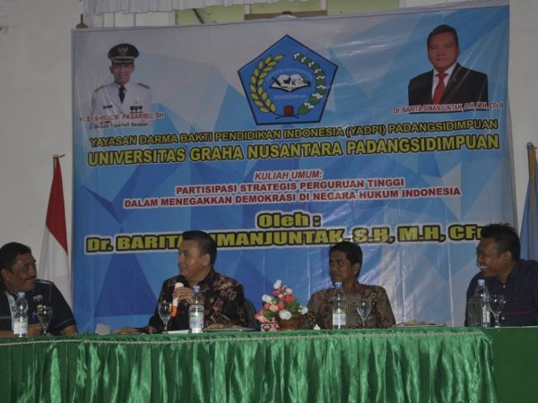 Kuliah Umum oleh Dr. Barita Simanjutak, SH, MH, CFrA