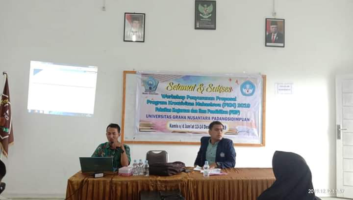 WORKSHOP PENYUSUNAN PROPOSAL PKM-2020